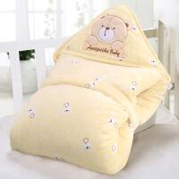 宝宝珊瑚绒婴幼儿冬季宝宝抱被 婴儿厚保暖抱毯包被春秋冬款