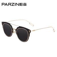 帕森时尚复古平面炫彩膜太阳镜 优雅女士大框潮墨镜 9550