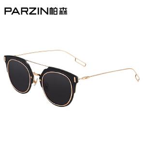 帕森新款 时尚复古平面炫彩膜太阳镜 优雅女士大框潮墨镜 9550