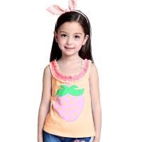 春夏装新款童装 女童吊带背心 儿童t恤大童打底衫