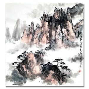 中国书法家协会顾问 董寿平 《山水1》