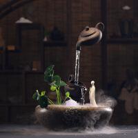 创意禅意流水喷泉客厅装饰风水家居办公室鱼缸招财加湿器中式摆件