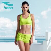 浩沙泳衣女三件套 夏季新款分体泳衣女保守 学生运动游泳衣女时尚