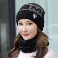 帽子女士冬天韩版百搭潮针织帽加绒加厚毛线帽百搭保暖帽女秋冬季