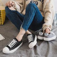 帆布鞋女学生韩版原宿ulzzang简约时尚冬季加绒低帮平底鞋女潮款