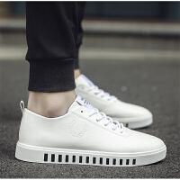 夏季男士板鞋学生小白鞋 韩版休闲鞋个性青少年潮 白色皮鞋男