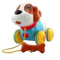 儿童推拉玩具 拉线拉绳笨笨狗 1-3岁 拖拉学步玩具狗狗电动会说话小狗 智能牵绳玩具狗 标配