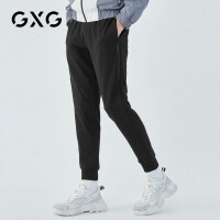 GXG男装  秋季男士韩版帅气潮流黑色束脚运动长裤休闲裤男