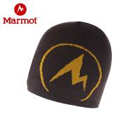 Marmot/土拨鼠户外休闲男女同款防寒保暖毛线帽子情侣针织帽