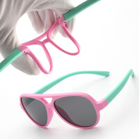 儿童户外太阳镜男女童宝宝时尚墨镜偏光眼镜软材质防紫外线