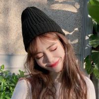 网红款针织毛线帽子女秋冬季韩版百搭冬天甜美日系可爱潮ins冷帽