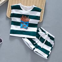 男童夏装婴儿童短袖t恤两件套帅气宝宝夏季套装