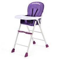 宝宝餐椅可折叠多功能便携式儿童婴儿吃饭学坐椅餐桌座椅子可调节YW378 C-606熏衣紫. 不可调节高度