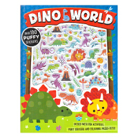 Dino World Puffy Sticker Activity Book 英文贴纸书恐龙世界 儿童英语立体活动书