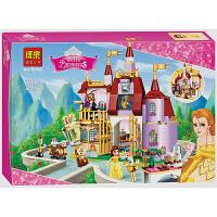 美女与野兽 女孩美女与野兽系列贝儿公主魔法城堡拼装积木玩具 贝儿公主的魔法城堡