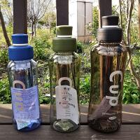 泰蜜熊太空杯塑料子母盖户外便携大容量运动水杯密封杯旅行杯