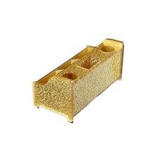 金色支架收纳盒亚克力话筒架无线KTV麦克风水晶话筒架子桌面台式