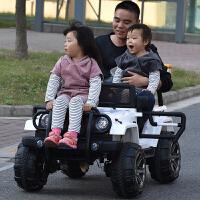 儿童电动汽车四轮可坐双人电动车玩具遥控汽车可坐人大人宝宝四驱越野车双人超大号