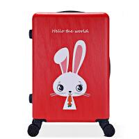 卡通印花拉杆箱女旅行密码箱子20寸行李箱24拖箱18可爱小清新