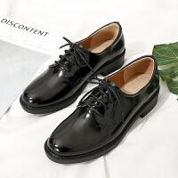 秋季女鞋子新款潮休闲平底韩版单鞋女学生复古英伦小皮鞋