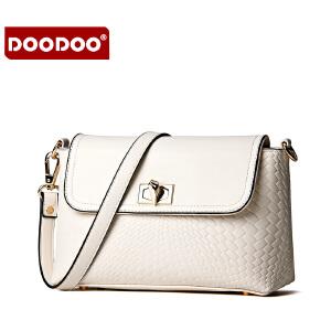 【支持礼品卡】DOODOO 2017新款时尚包包女包欧美潮流鳄鱼纹单肩斜跨女士小包包 D5131