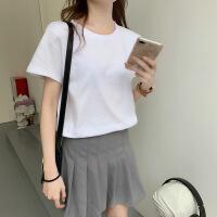 短袖t恤男女学生2019夏季新款白色宽松百搭打底衫情侣体上衣