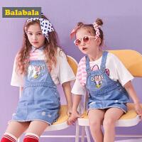 【唐老鸭IP款】巴拉巴拉儿童连衣裙女童牛仔裙子夏装新款童装