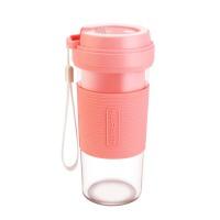 德国海牌榨汁机便携式榨汁杯家用小型电动果汁机迷你全自动炸汁机 粉色