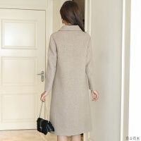 反季双面羊绒大衣女2018新款秋韩版中长款毛呢外套