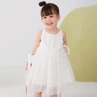 【秒杀价:225元】马拉丁童装女小童连衣裙2020夏装新款蝴蝶造型网纱背心连衣裙