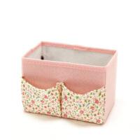 洛丽塔系列 棉布桌面收纳盒 田园碎花 化妆品收纳盒 桌面摆件小收纳盒办公