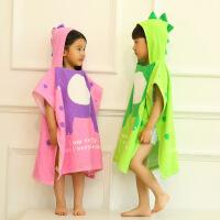 新款女童男童浴巾宝宝浴袍小恐龙动物造型披风斗篷 2-8岁