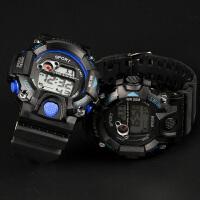 青少年手表男运动电子表LED夜光防水数字式初中学生男孩儿童腕表