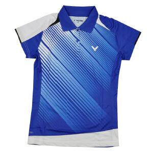 VICTOR/胜利 速干透气 比赛服 羽毛球服 女款短袖T恤S-2603