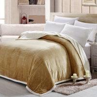 复合毛毯加厚保暖法兰绒盖毯子双人珊瑚绒毯夏季被毯子