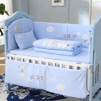 婴儿床上用品套件婴儿床品床围四季通用宝宝床上用品可拆洗 110*60