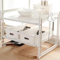 卫生间收纳柜 多功能 收纳盒厨柜下水槽置物架橱柜收纳架卫生间整理架