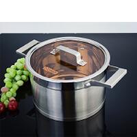 汤锅不锈钢304家用加厚不锈钢锅复底燃气电磁炉通用煲汤锅大容量