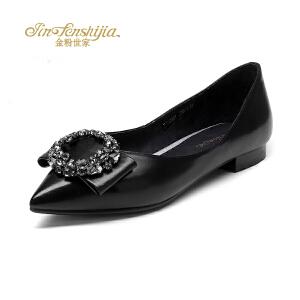 红蜻蜓旗下品牌金粉世家女鞋秋冬休闲鞋鞋子女JFB1010