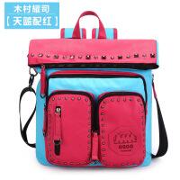 木村耀司2015新款韩版潮书包双肩包背包帆布旅行包学院风男女包包
