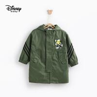 迪士尼童装儿童风衣2020春秋新款男童连帽外套潮米奇宽松上衣专柜同款