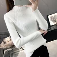 打底衫女半高领毛衣打底衫女长袖秋冬新款修身紧身套头内搭纯色短款针织衫