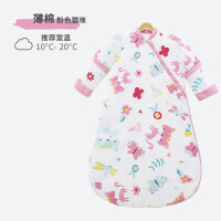 宝宝睡袋婴儿春秋薄款夏季纱布防踢被神器儿童幼儿冬四季通用