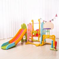 儿童室内滑梯秋千组合 家用单人多功能宝宝滑滑梯幼儿三合一玩具 炫彩色七合一