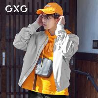 GXG男装 春季男士韩版潮流灰白色休闲男士棒球服夹克外套男