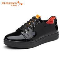 红蜻蜓男鞋休闲皮鞋秋冬休闲鞋子男板鞋WZA6668