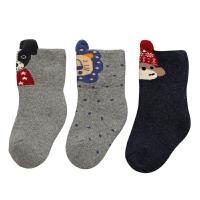 婴儿袜子秋冬加厚保暖1岁0-3新生儿宝宝冬季加绒毛巾长筒棉袜