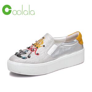 红蜻蜓旗下品牌COOLALA女鞋秋冬休闲鞋板鞋女鞋子HGB7013