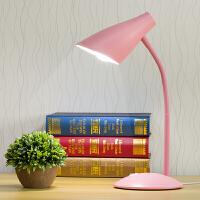 LED护眼台灯书桌大学生宿舍卧室床头家用办公插电式灯泡台灯