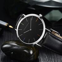 HM男女士日本机芯防水学生情侣简约新款潮流石英手表